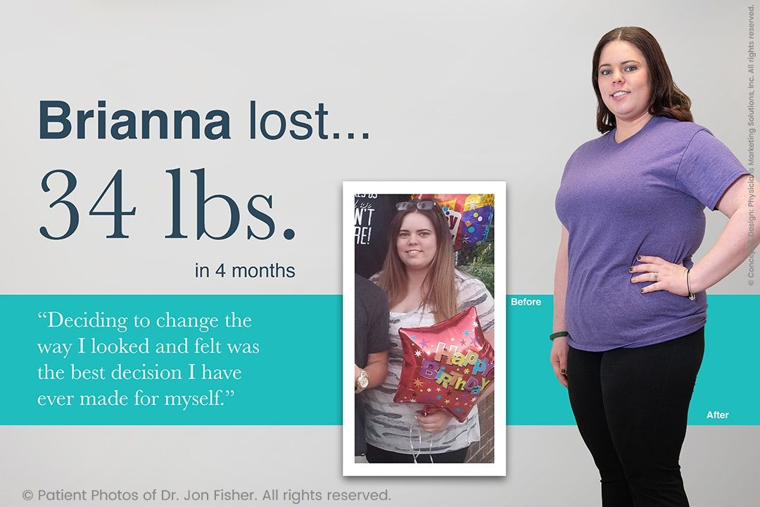 Brianna lost 34 lbs. in 4 months