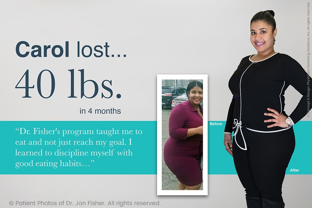 Carol lost 40 lbs. in 4 months