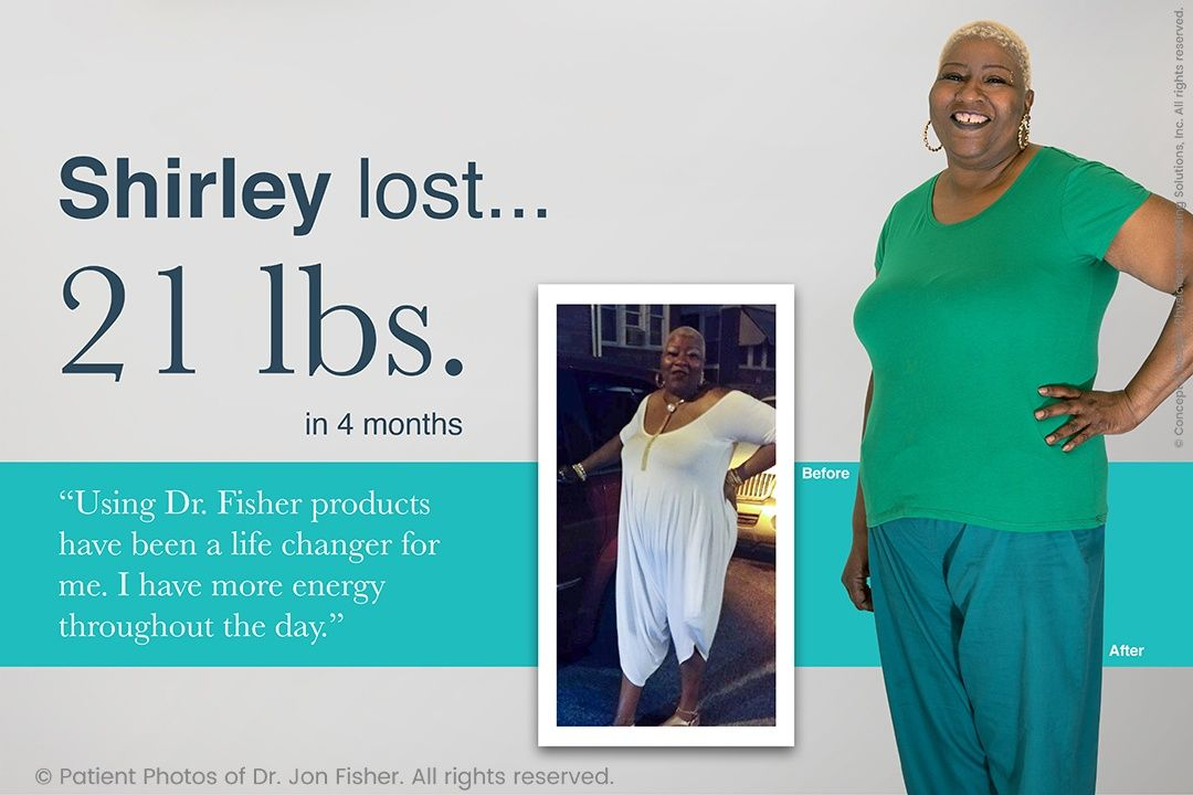 Shirley lost 21 lbs. in 4 months
