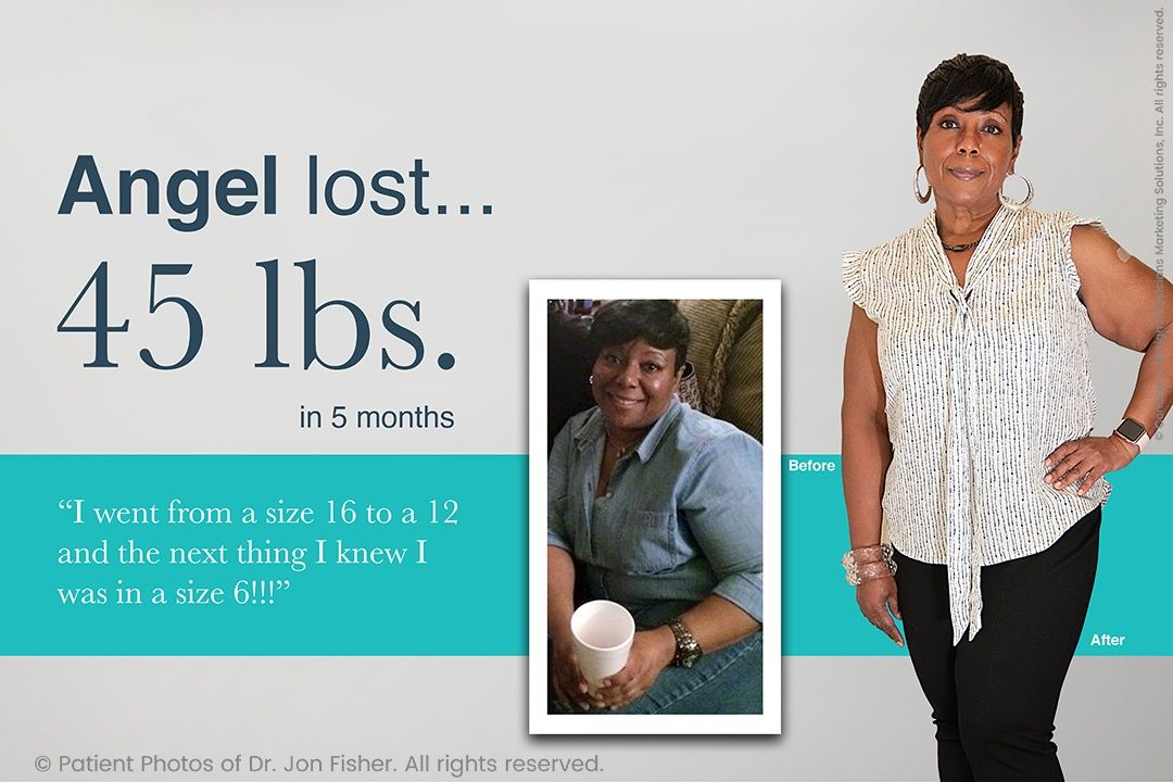 Angel lost 45 lbs. in 5 months